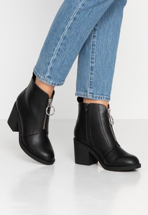 WIDE FIT - Ankelboots - black