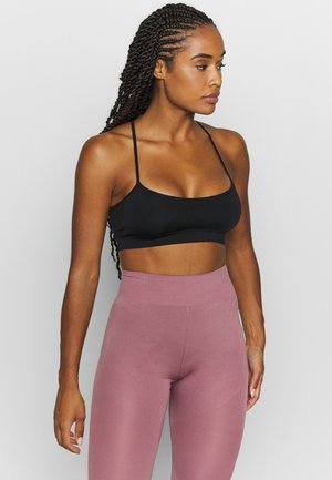 Light support sports bra - black