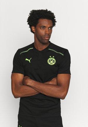 BVB BORUSSIA DORTMUND CASUALS - Football shirt - black/safety yellow