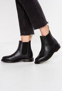 Dr. Martens - VEGAN FLORA CHELSEA BOOT - Classic ankle boots - black felix - 0