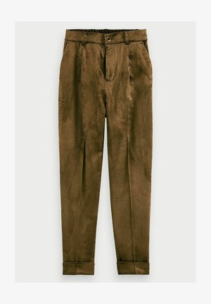 Trousers - military green