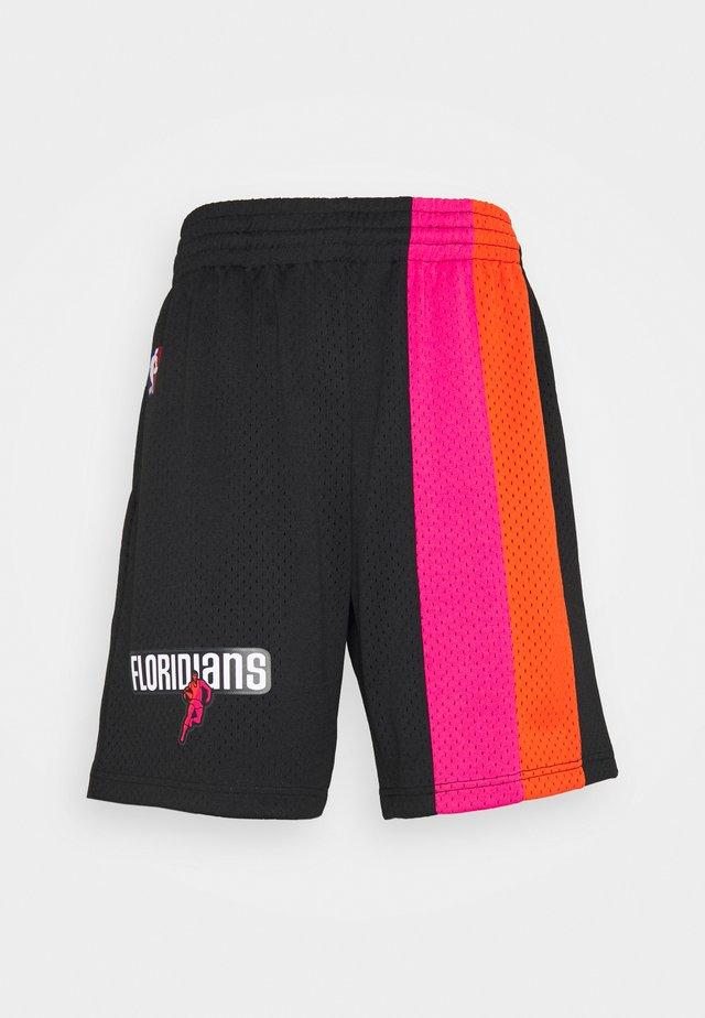 NBA MIAMI HEAT SWINGMAN SHORTS - Club wear - black