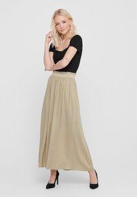 ONLY - Pleated skirt - white pepper - 1
