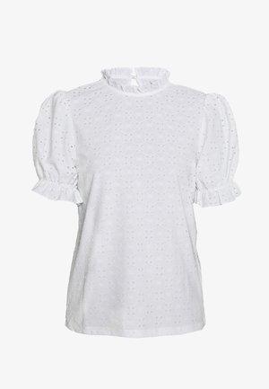 VIKAWA RUFFLE DETAIL TOP - Blouse - off-white