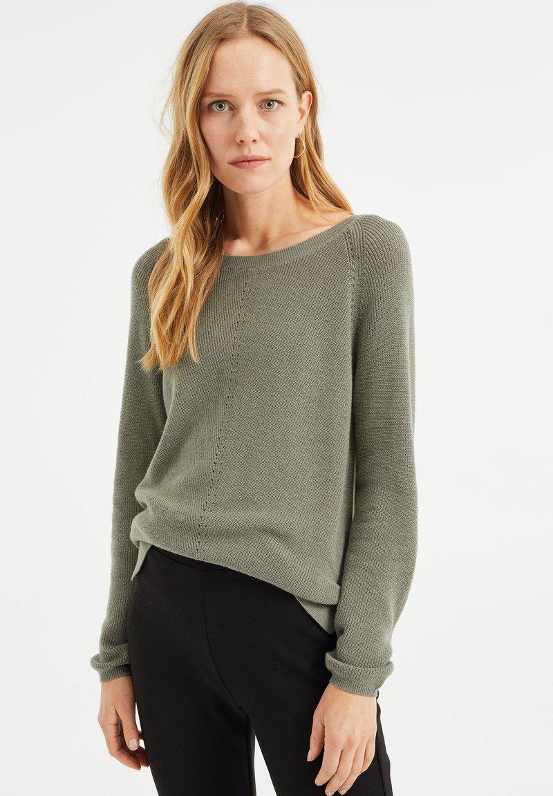 WE Fashion - Jumper - moss green