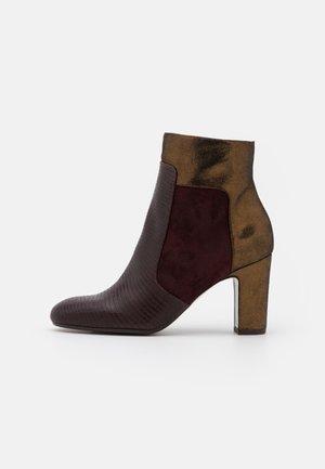 WANDI - Ankle boots - grape/bronce