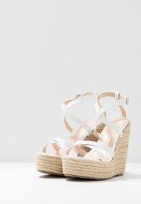 BEBO - FARRAH - Sandaler med høye hæler - white - 4