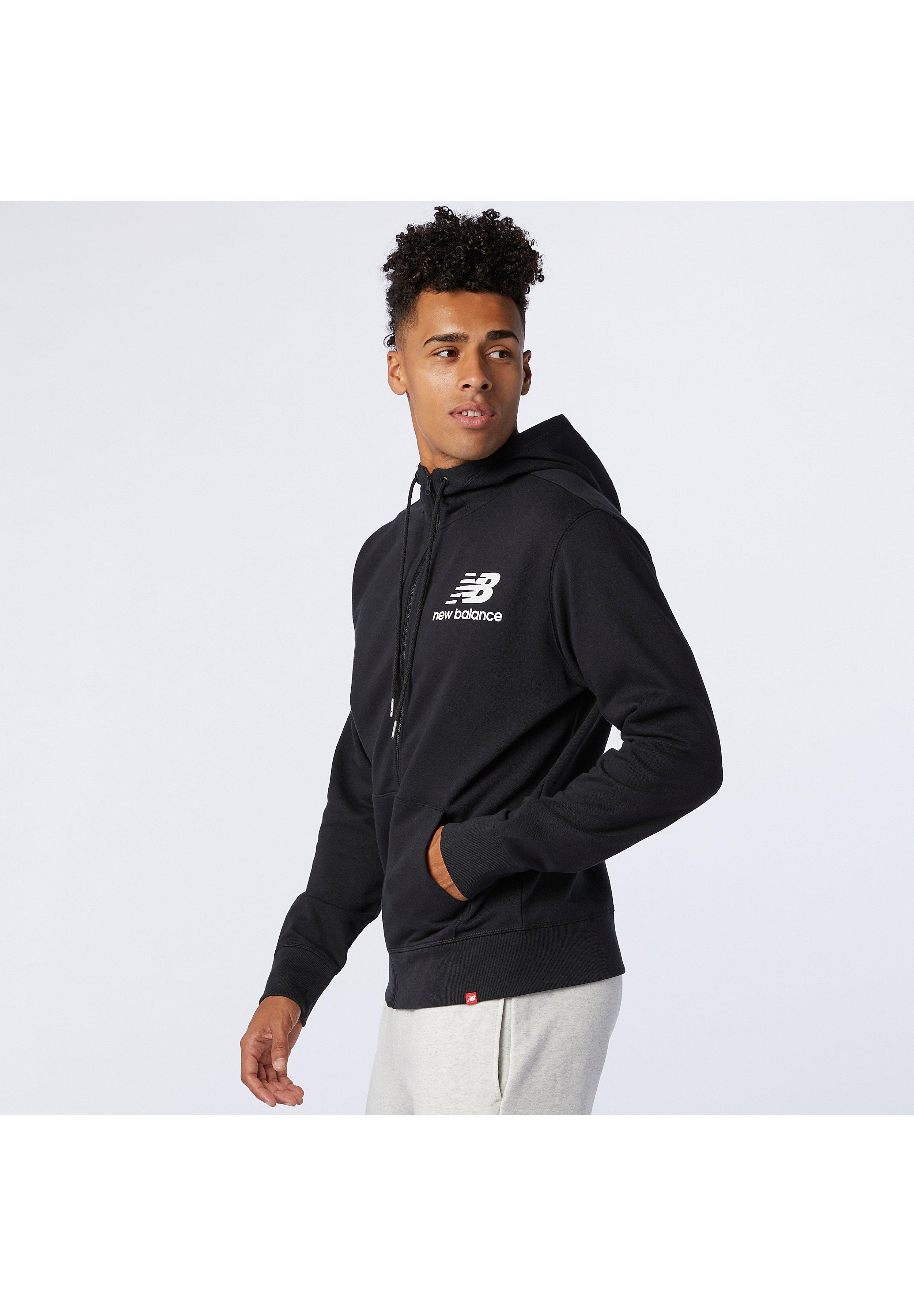 Men ESSENTIALS STACKED FULL ZIP HOODIE - Zip-up sweatshirt