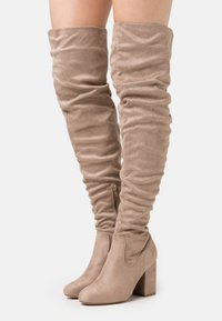 Even&Odd Wide Fit - High heeled boots - taupe - 0