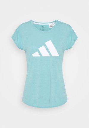3 BAR DESIGNED4TRAINING AEROREADY - Print T-shirt - mint ton/white