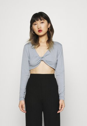 SUSTAINABLE LONG SLEEVE TWIST FRONT - Long sleeved top - blue blizzard