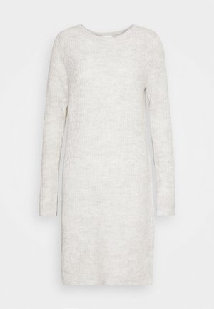 VISURIL O-NECK DRESS - Jumper dress - super light grey melange