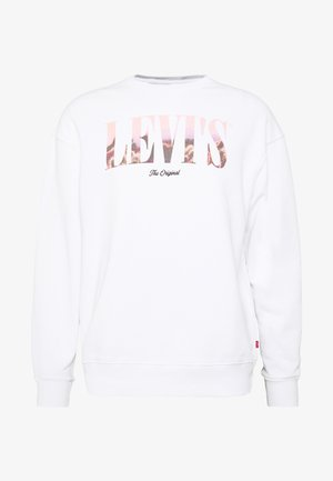 RELAXED GRAPHIC CREW - Sweatshirt - serif white