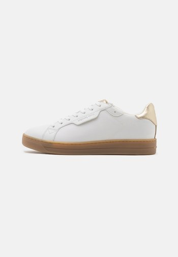 KEATING LACE UP - Trainers - optic white/plain gold