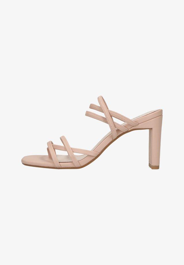 MIT RIEMCHEN - Sandalen met hoge hak - nude