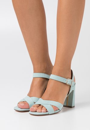 SELENA BLOCK  - High heeled sandals - turquise