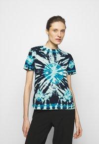 Proenza Schouler White Label - CLASSIC SHORT SLEEVE - T-Shirt print - dark blue - 0
