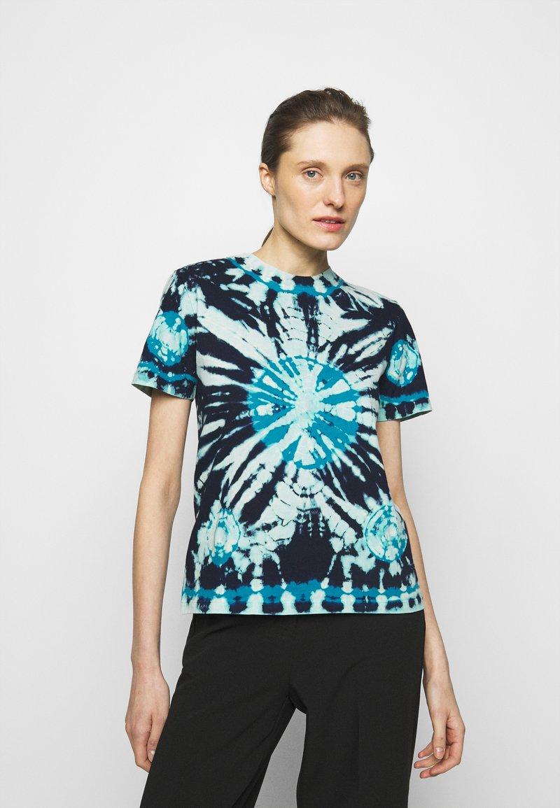 Proenza Schouler White Label - CLASSIC SHORT SLEEVE - T-Shirt print - dark blue