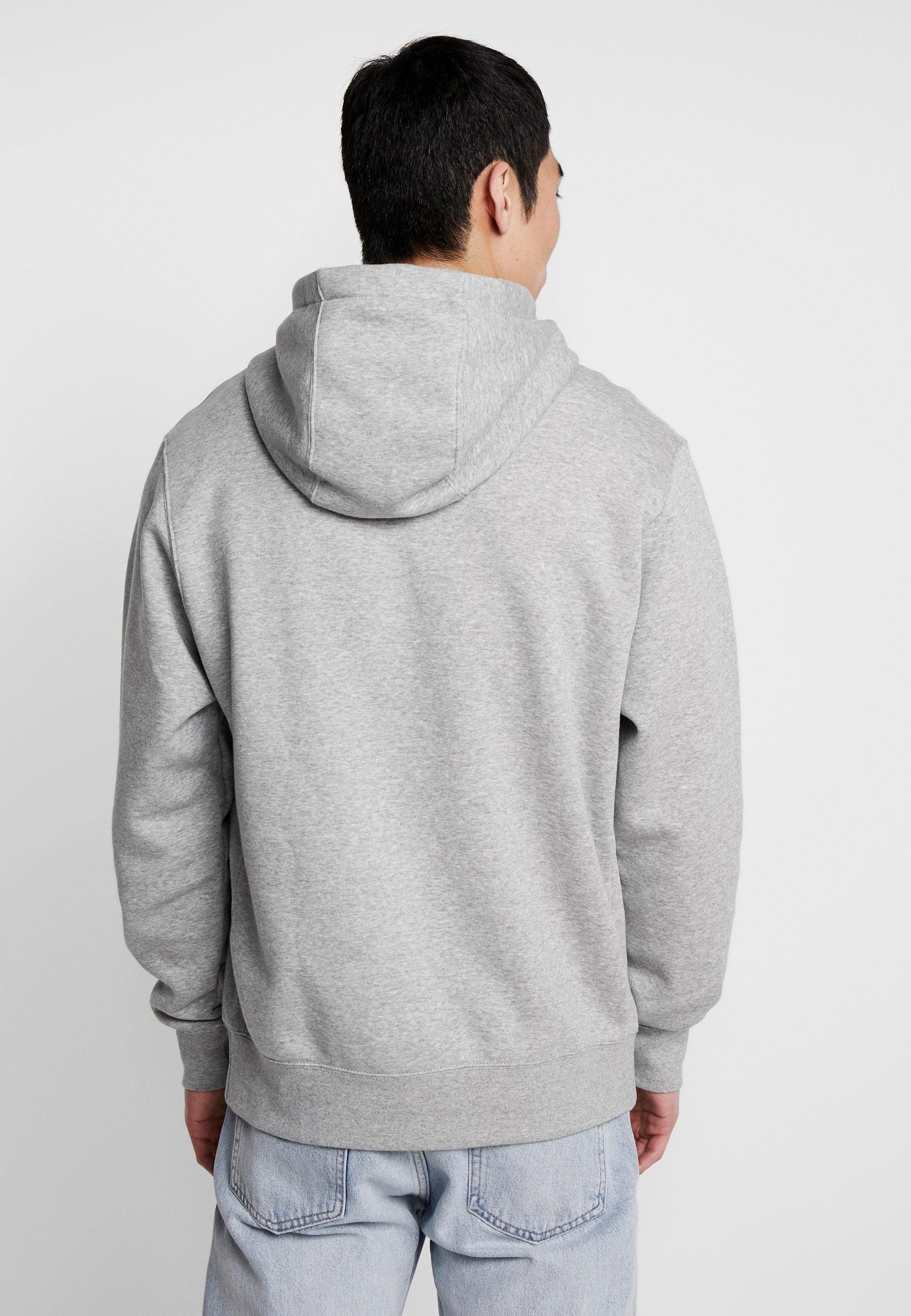 Club Hoodie Hættetrøjer grey heathermatte silverwhite