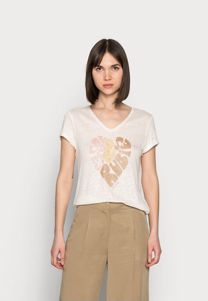 Mos Mosh - RUBIES TEE - Print T-shirt - peachskin