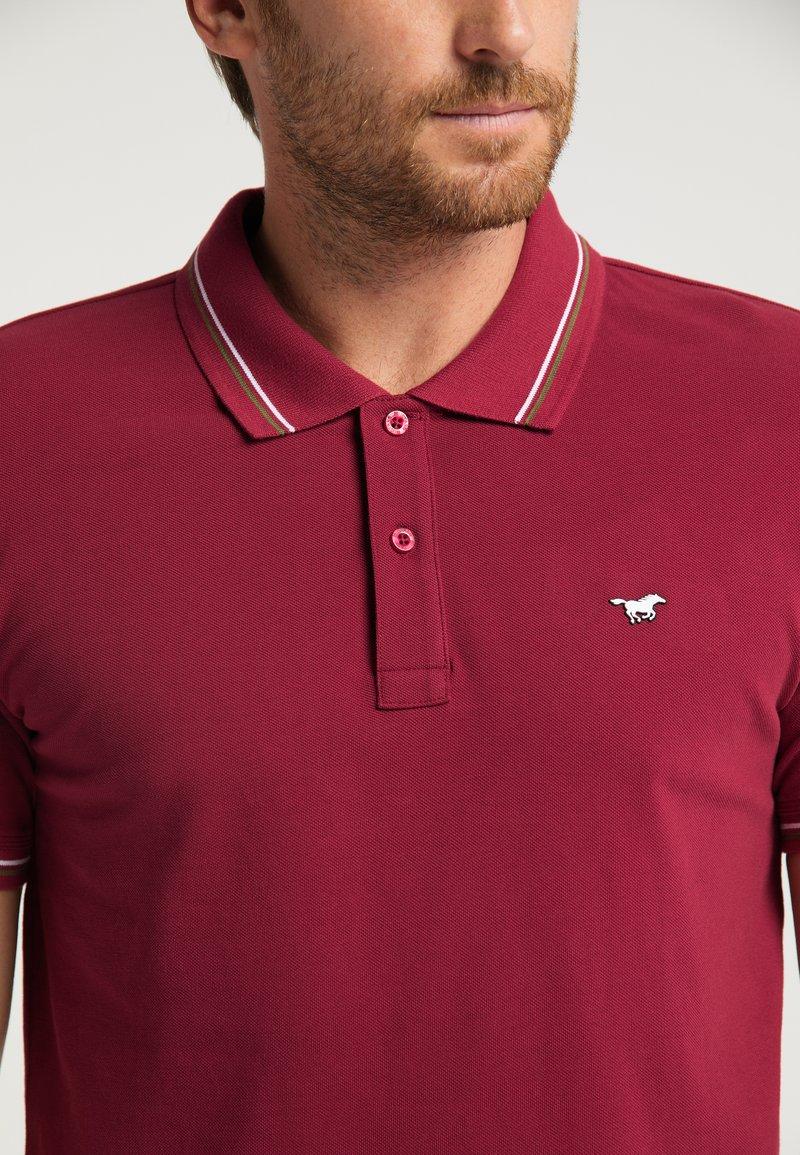 Mustang Poloshirt - rot/dunkelrot tkVsY1