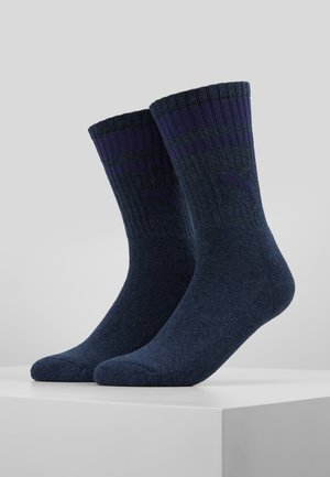 CREW HERITAGE STRIPE  2 PACK - Socks - denim blue
