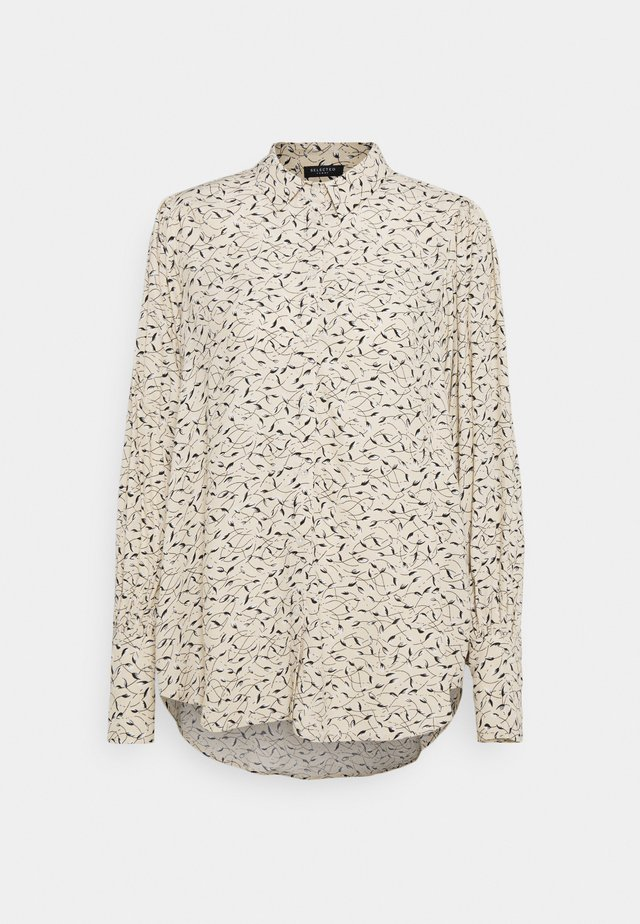 SLFEVE HOLLY - Button-down blouse - sand
