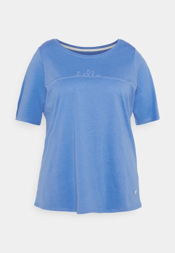 WITH SLEEVE DETAIL - Print T-shirt - marina bay blue