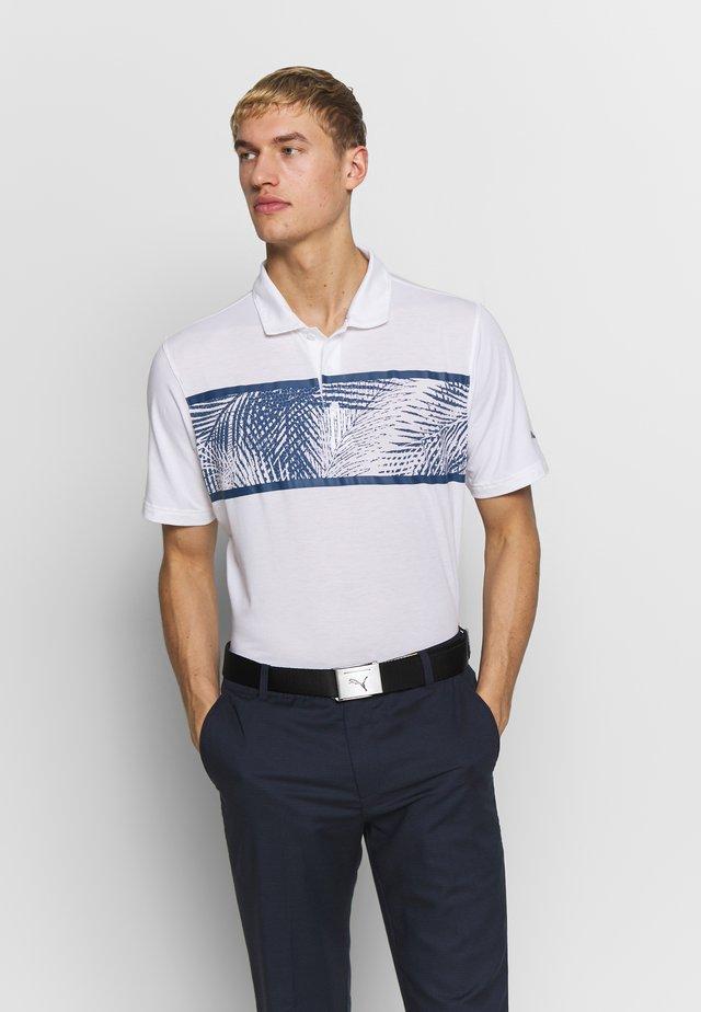 PALMS - Sports shirt - bright white/dark denim