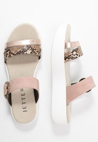 JETTE - Pantofle - bronze/rose - 3