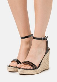 Even&Odd Wide Fit - High heeled sandals - black - 0