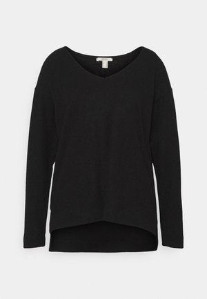 VNECK TEE - Jumper - black