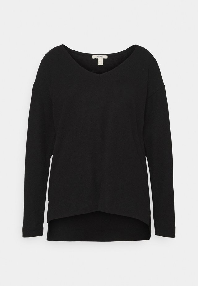 VNECK TEE - Sweter - black