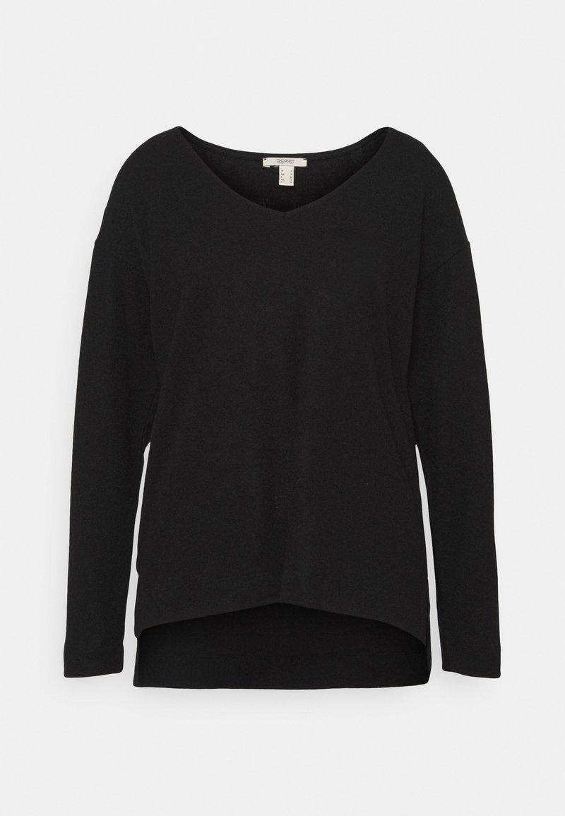 Esprit - VNECK TEE - Jumper - black