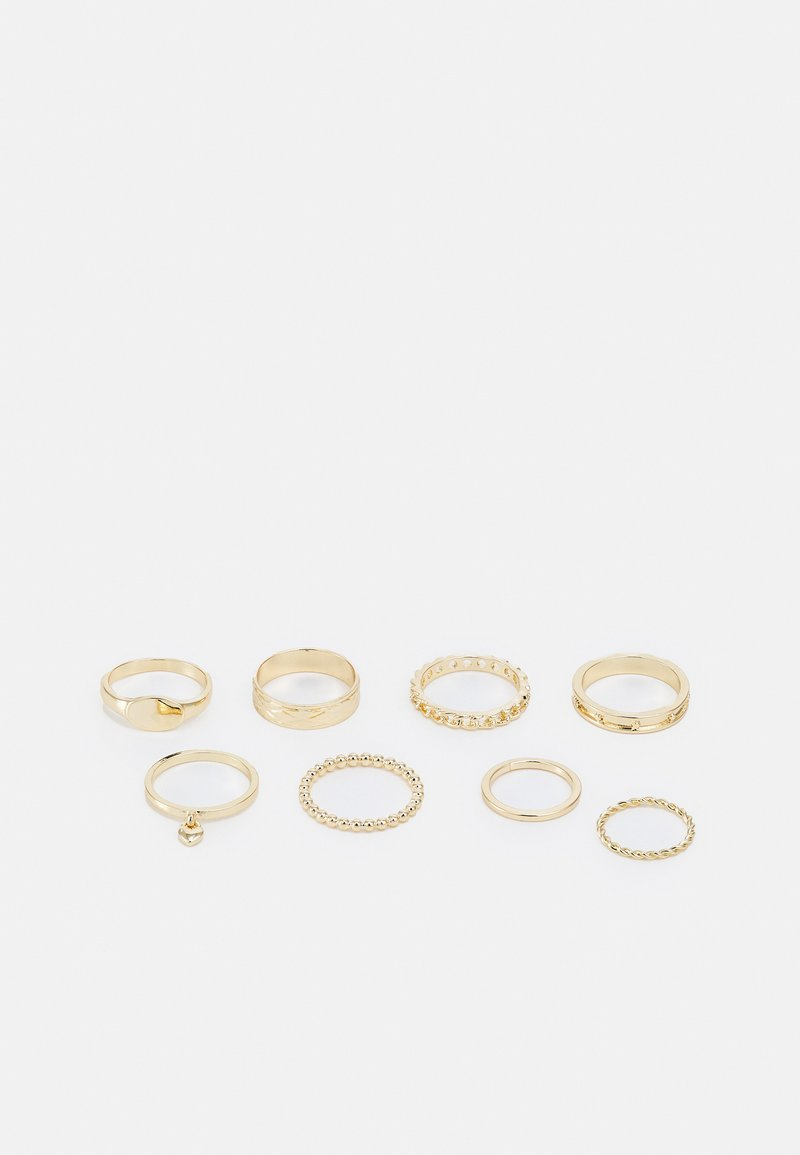Topshop - HEART 8 PACK - Ring - gold-coloured