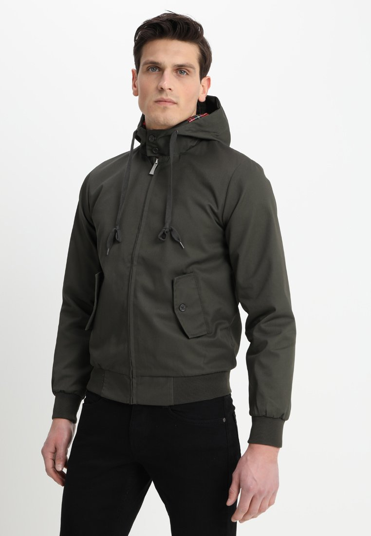 HARRINGTON - HOODED - Lehká bunda - kaki