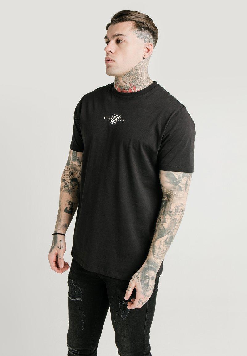 SIKSILK - SQUARE HEM TEE - T-shirt basic - black