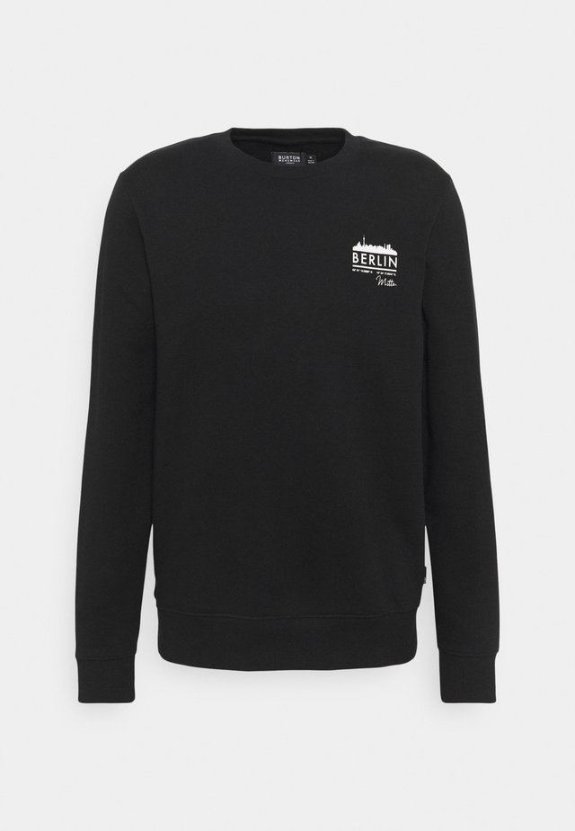 BERLIN CHEST GRAPHIC CREW - Sweater - black