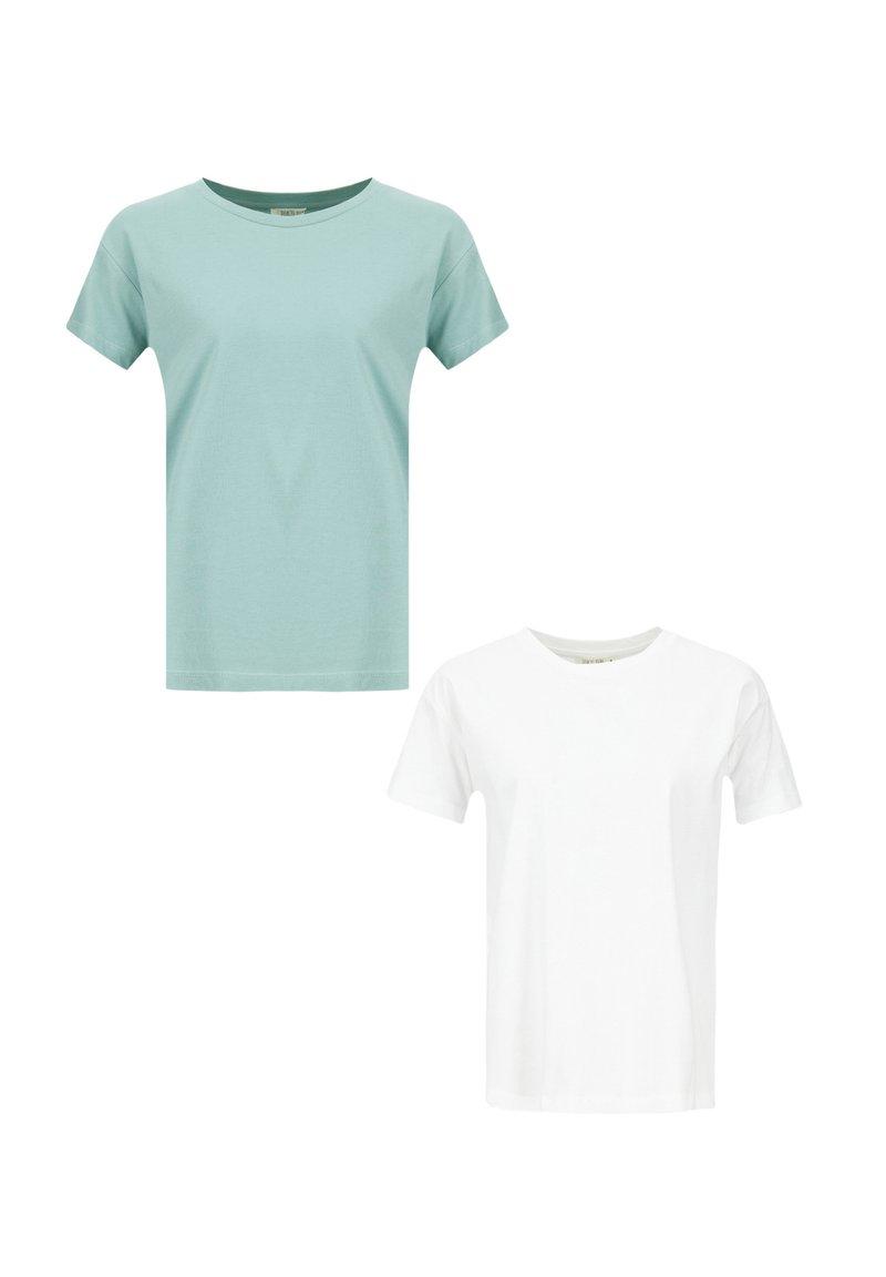 DeFacto - 2 PACK - Basic T-shirt - white