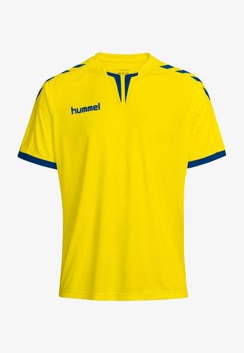CORE SS POLY - Print T-shirt - sports yellow/true blue