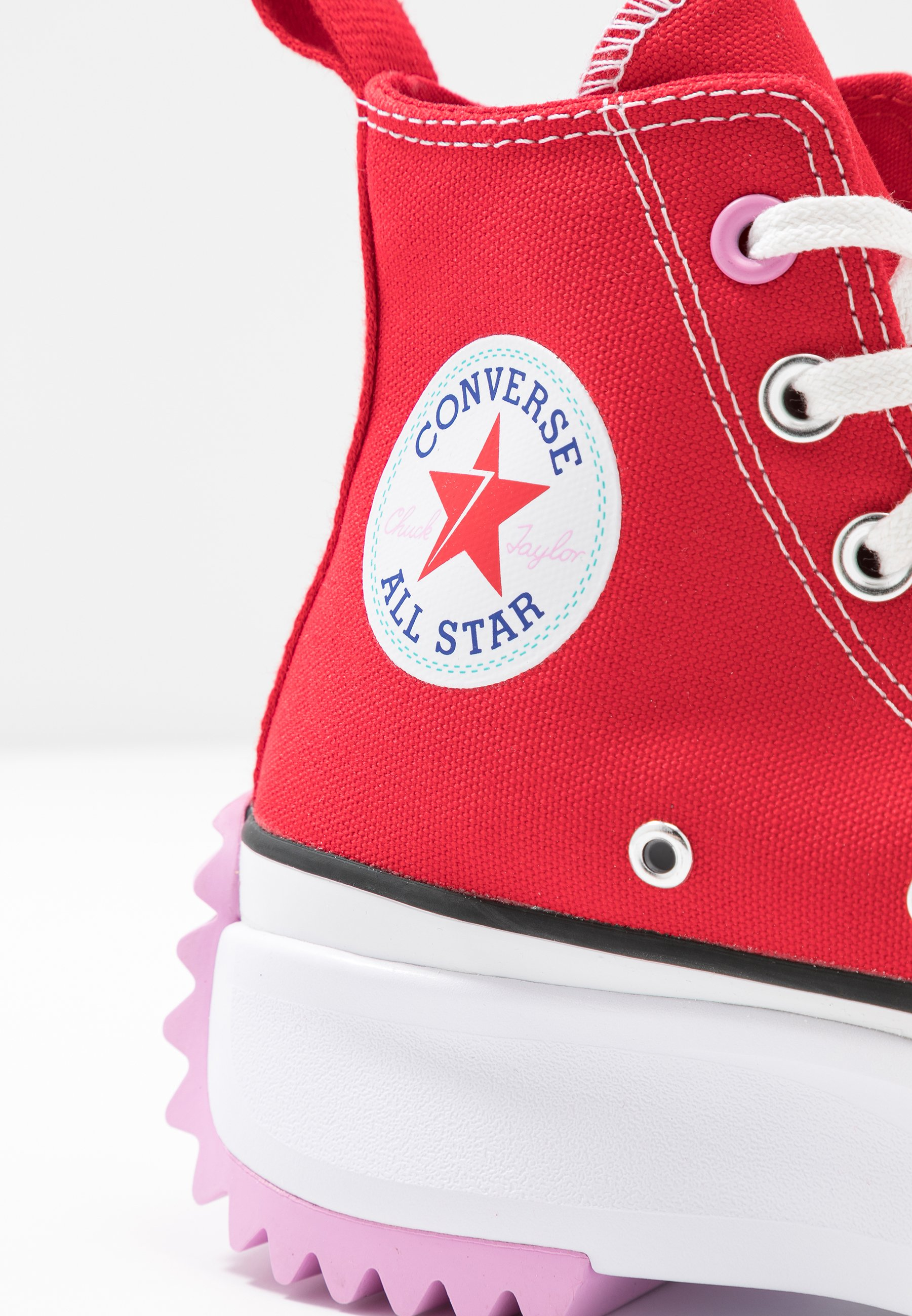 converse plateforme rouge