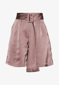 UNIQUE 21 - HIGH WAIST BELTED - Shorts - mocha - 3