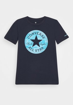 SHORT SLEEVE CHUCK PATCH GRAPHIC UNISEX - T-shirt con stampa - obsidian