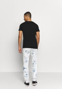 Replay - CREW TEE 3 PACK - Basic T-shirt - black/ grey melange/ bordeaux melange - 2