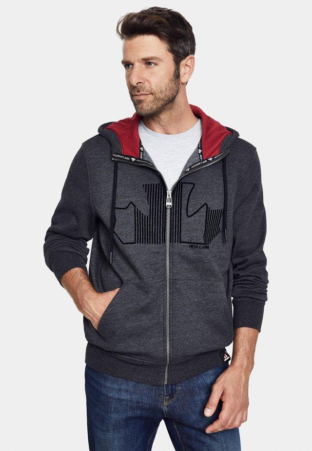 Zip-up hoodie - anthra