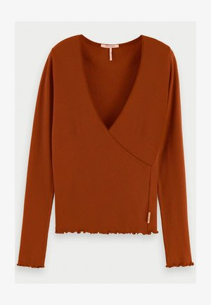 WRAP OVER - Long sleeved top - sienna