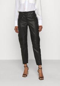 Belstaff - FREYA TROUSER - Leather trousers - black - 0