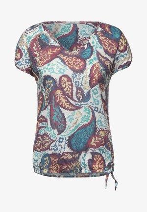 BURNOUT OPTIK - T-shirt print - weiß