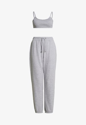 JOGGER BRALET SET - Tracksuit bottoms - grey marl