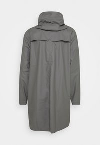 Rains - LONG JACKET UNISEX - Waterproof jacket - smoke - 2